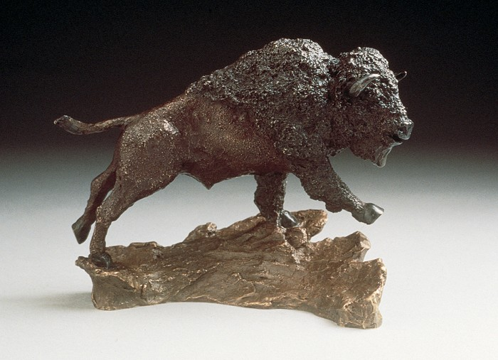 Mark Hopkins Buffalo Bronze Sculpture