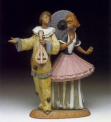 LladroCostumed Couple 1991-93Porcelain Figurine