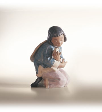 Lladro Friendly Sparrow Porcelain Figurine