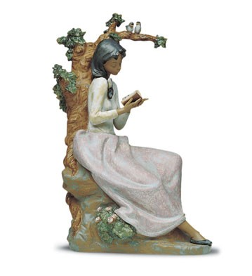 Lladro Afternoon Verse 1992-2001 Porcelain Figurine
