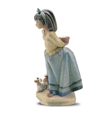 Lladro Guess What I Have? 1992-2001 Porcelain Figurine