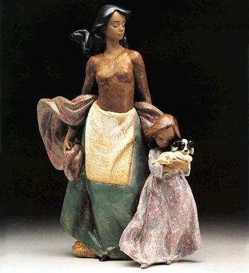 LladroWaiting For Father 1993-99Porcelain Figurine