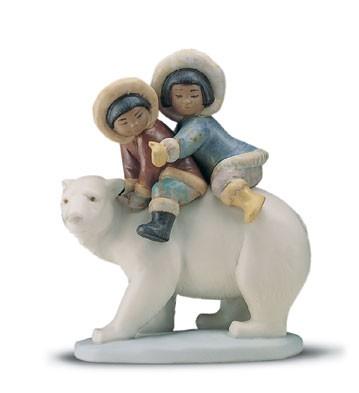 LladroEskimo Riders 1994-2001Porcelain Figurine