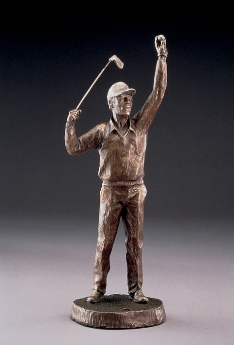 Mark Hopkins Ace Bronze Sculpture