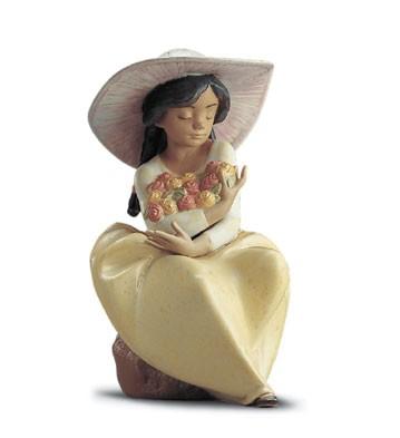 LladroFragrant Bouquet 1995-2001Porcelain Figurine