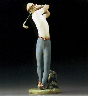 LladroGolfer On The Green 1995-00Porcelain Figurine