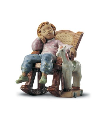 LladroAll Tuckered Out 1995-2001Porcelain Figurine