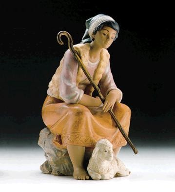 Lladro The Shepherdess 1989-99 Porcelain Figurine