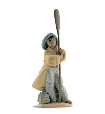 Lladro Young Fisherman 1996-2001 Porcelain Figurine