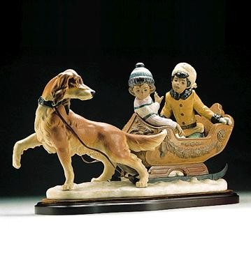 LladroSleigh Ride 1996-99Porcelain Figurine