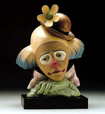 Lladro Clown With Bowler Hat 1996-99 Porcelain Figurine