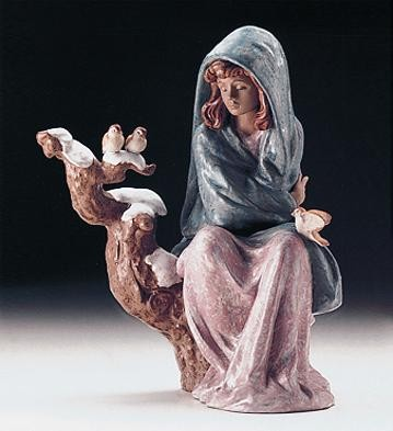 Lladro Waiting For Spring 1997-2000 Porcelain Figurine