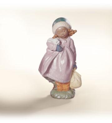 LladroSnuggle BunnyPorcelain Figurine