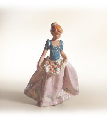 Lladro An Apron Full Of Joy Porcelain Figurine