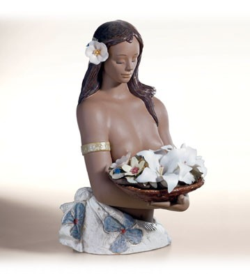 Retired Lladro Flowers From Tahiti le1000 2002-04