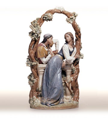 Lladro Loving Words Porcelain Figurine