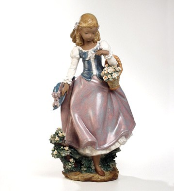 Retired Lladro Winds Of Springtime