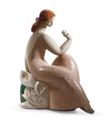 Lladro Lady With Lilies II Porcelain Figurine