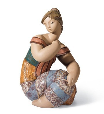 Lladro Young Indian II Porcelain Figurine