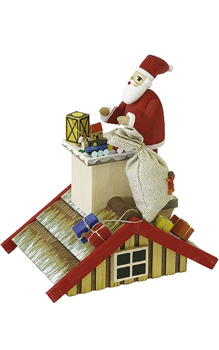Christian Ulbricht SMOKER SANTA ON ROOF Nutcracker