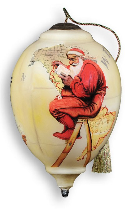 Neqwa Making a list Ornament  By Norman Rockwell