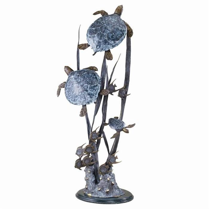 SPI SculpturesSea Turtle Trio Seascape