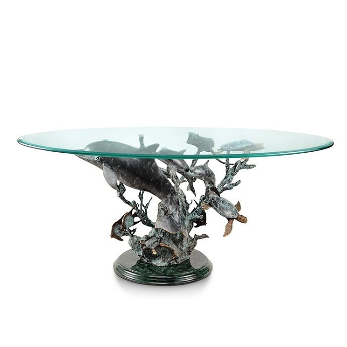 SPI Sculptures Dolphin Seaworld Coffee Table