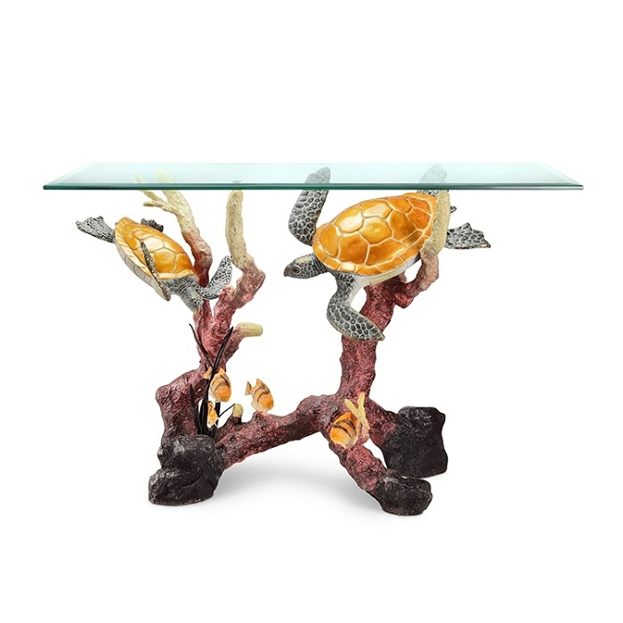 SPI Sculptures Turtle Console Table