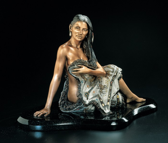 Christopher Pardell Sacajawea-Ge Mixed Media Sculpture