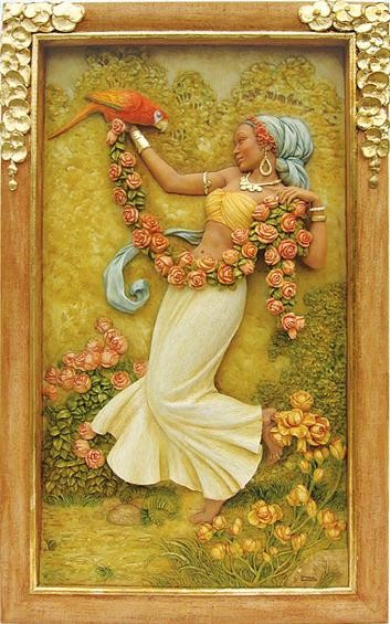 Ebony VisionsRose Beauty Relief Wall Panel