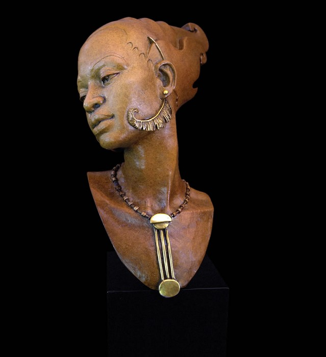 Thomas Blackshear Legends Romance Artist Proof Mixed Media Sculpture