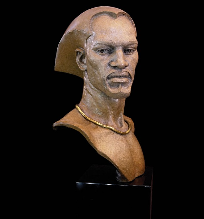 Thomas Blackshear Legends Remembering Mixed Media Sculpture