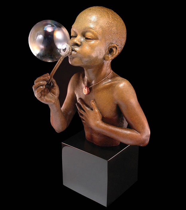 Thomas Blackshear Legends Summer Days Artist Proof Mixed Media Sculpture