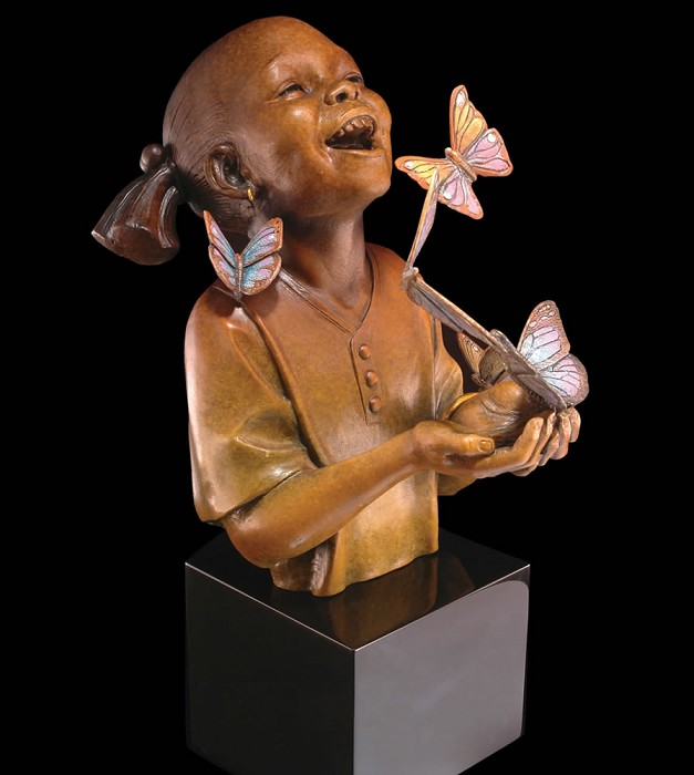 Thomas Blackshear Legends Hope Mixed Media Sculpture