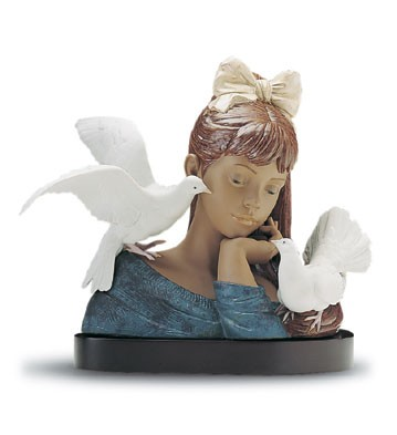 Lladro At Peace Le1000 1994-2001 Porcelain Figurine