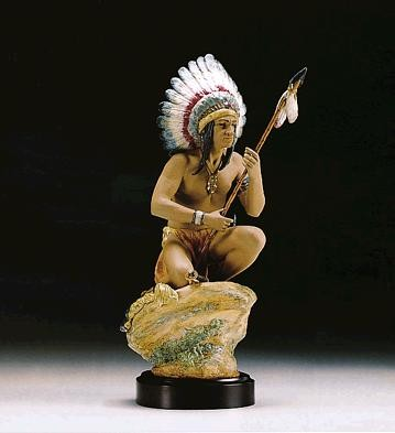 Lladro Indian Chief Le3000 1994-98 Porcelain Figurine