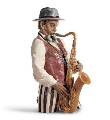 Lladro Playing The Blues Porcelain Figurine