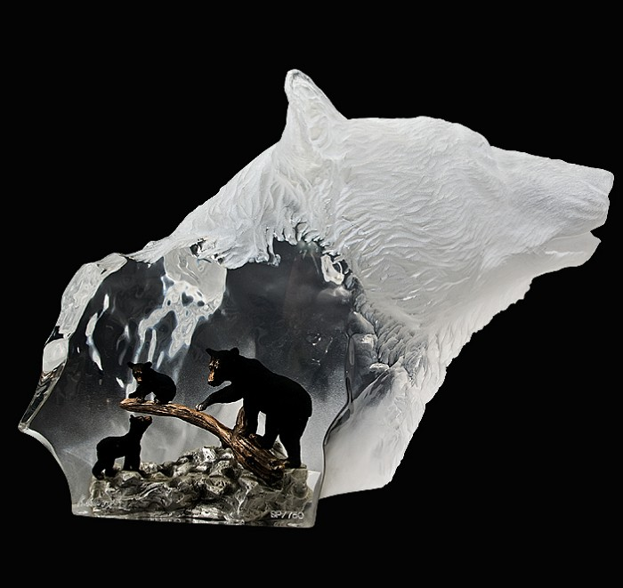 Kitty Cantrell Black Bear Clan Mixed Media Sculpture