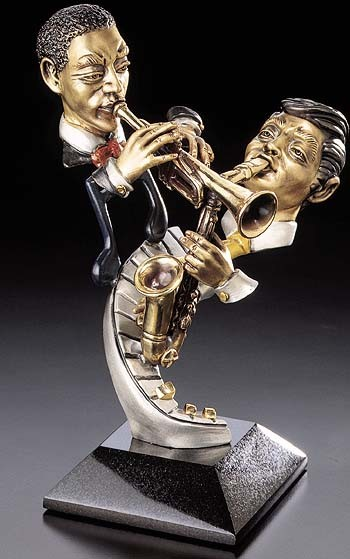 Paul Wegner Face The Music Mixed Media Sculpture