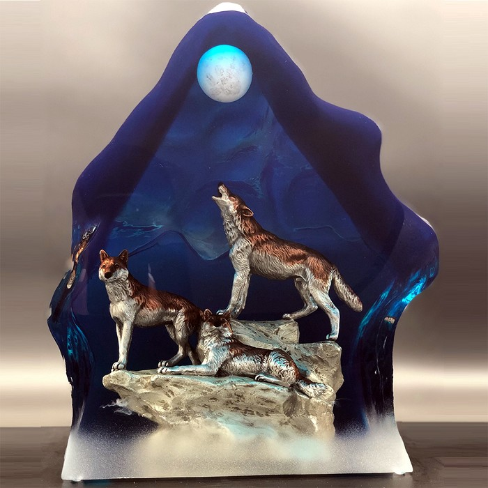 Kitty Cantrell Moonlight Serenade Mixed Media Sculpture
