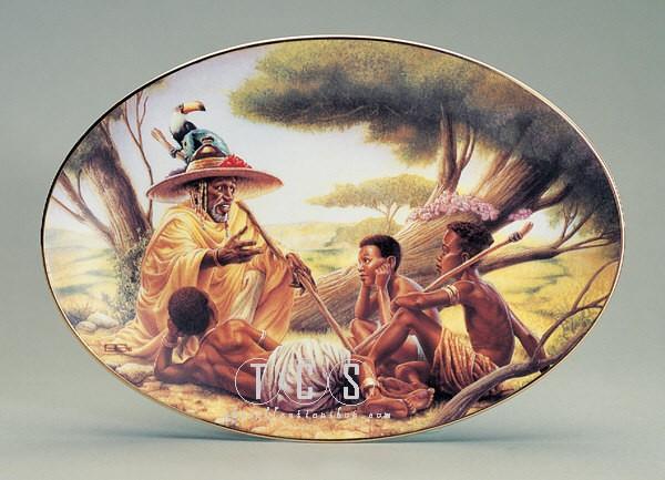Ebony VisionsStory Teller Plate