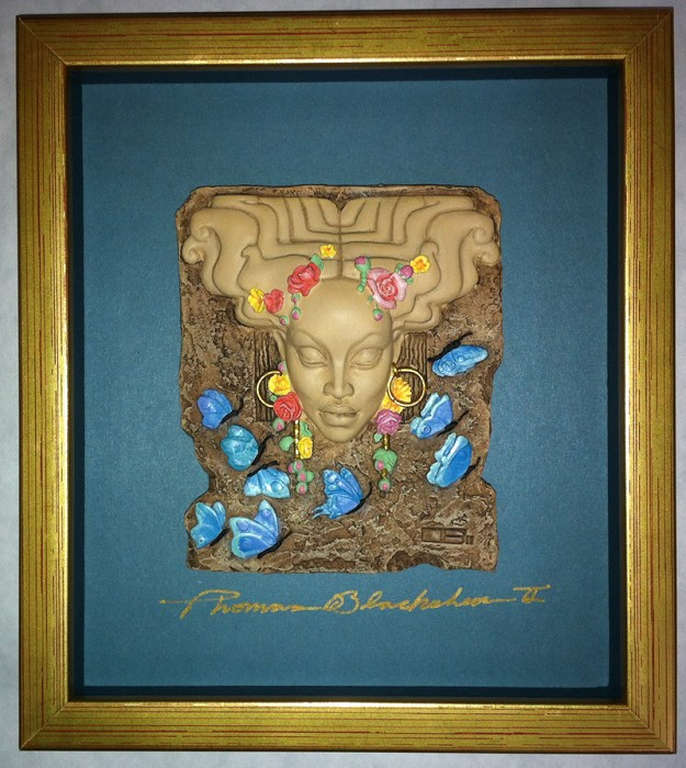 Ebony Visions Spring Time Plaque Signed
