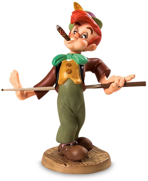WDCC Disney Classics Pinocchio Lampwick Screwball In The Corner Pocket