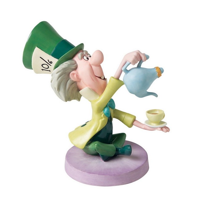 WDCC Disney Classics Alice In Wonderland Mad Hatter Topsy Turvy Tea Tottler Wdcc In The Spotlight Quintessentially Disney