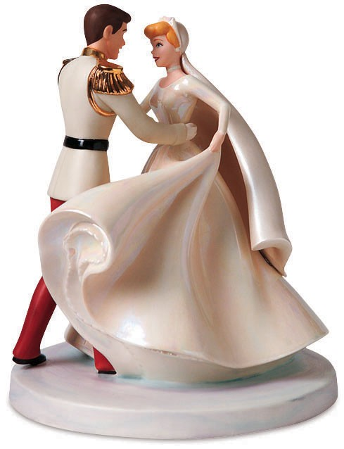 WDCC Disney ClassicsCinderella & Prince Charming Cake Topper Happily Ever After