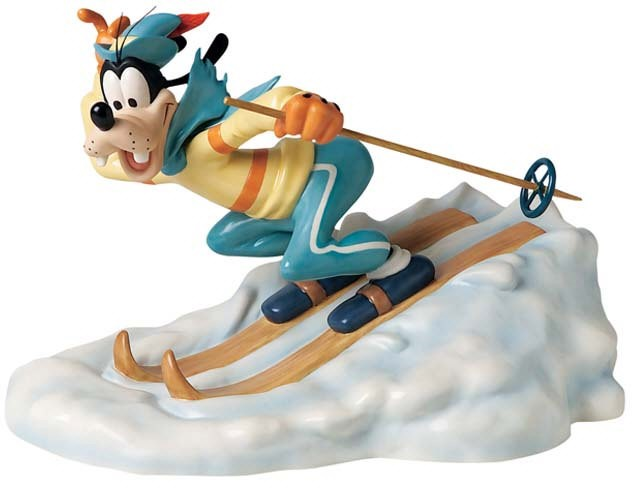 WDCC Disney Classics Art Of SkIIng Goofy All Downhill From Here