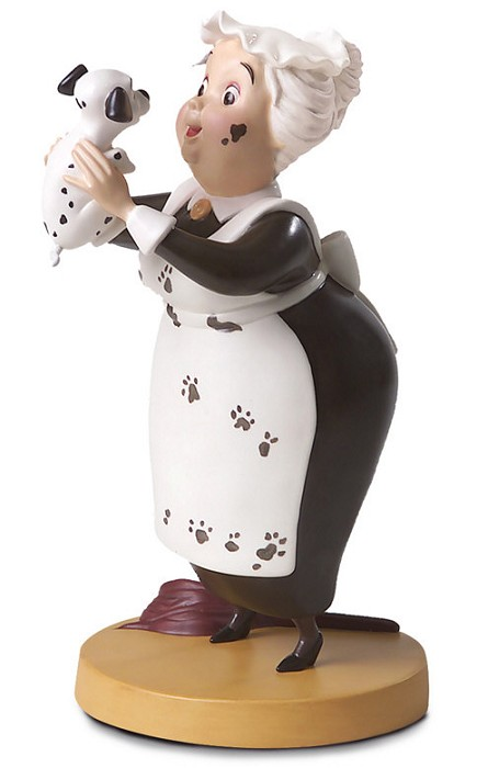 WDCC Disney Classics One Hundred and One Dalmatians Nanny Cook Look Heres Lucky