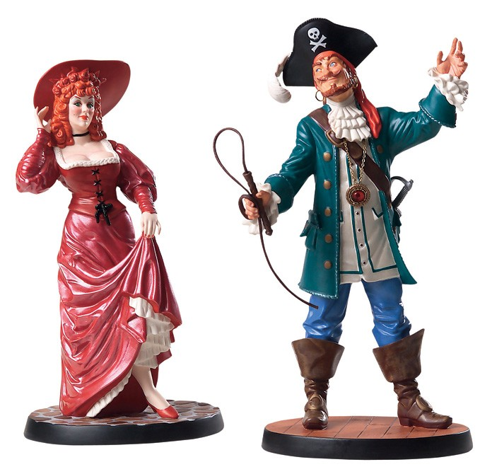 WDCC Disney Classics Pirates Of The Caribbean Auctioneer And Redhead