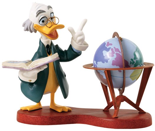 WDCC Disney Classics Ludwig Von Drake Didactic Duck Signed By Bruce Lau