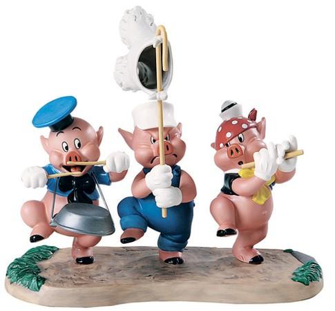 WDCC Disney ClassicsThree Little Pigs Triumphant Trio
